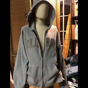 OLD NAVY-Gray Fleece jacket  size XL
